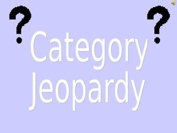 Categories Jeopardy PowerPoint