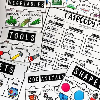 Categories L.1.5.a & L.1.5.b {Hands-on Reading}