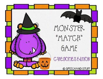Categories Monster Match Game