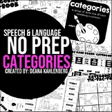 Categories {No Prep Practice}