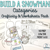 Categories- No Prep Winter Theme- Build a Snowman