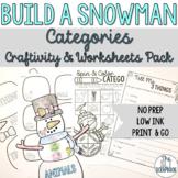 Categories- No Prep Winter Theme- Build a Snowman