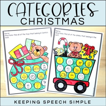 Categories No Prep Worksheets - Christmas themed