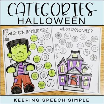 Categories No Prep Worksheets - Halloween themed