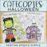 Categories No Prep Worksheets - Halloween themed