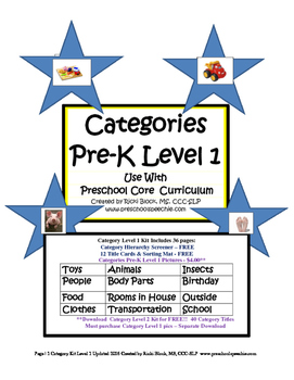 Categories Level 1 Updated