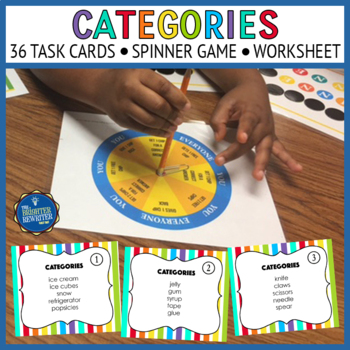 Categories Task Cards and Game