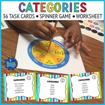 Categories Task Cards