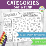 Categories Say and Find