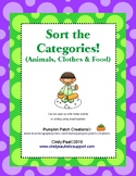 Categories Sorting (Animals, Clothes & Food)