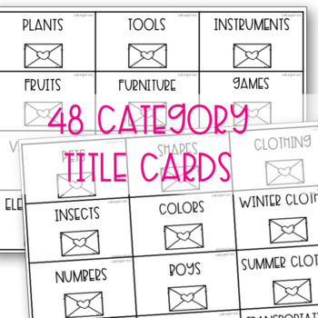 Categories Sorting Activity For Valentine's Day