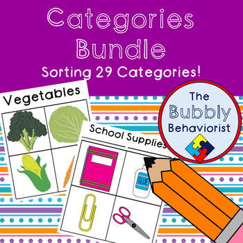 Categories Sorting Bundle- 29 Categories!