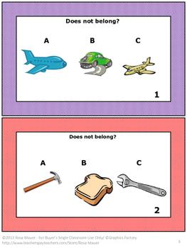 Sorting Task Card Set