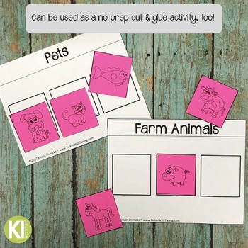 Categories, Sorting, Vocabulary Printable