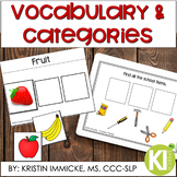 Categories and Vocabulary Practice for Speech Language Therapy