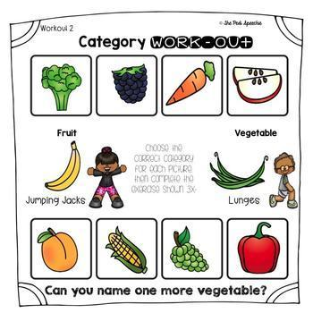 Categories Worksheets | Category Naming | Category Sorting