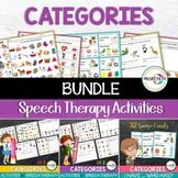 Categories Speech Therapy Activities Bundle