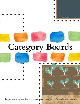 Categories - Speech Therapy Activity