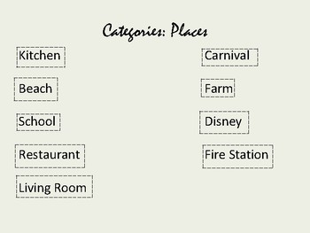 Categories: Things & Places