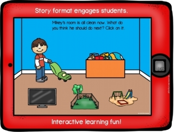 BOOM Cards Picture Categorizing Toys No Prep iPad Activity