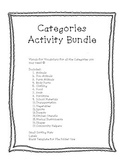 Categories Vocabulary Bundle