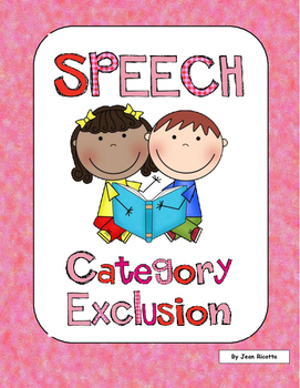 Speech Therapy - Category Exclusion - Which object doesn't belong?
