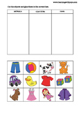 Categories Worksheet