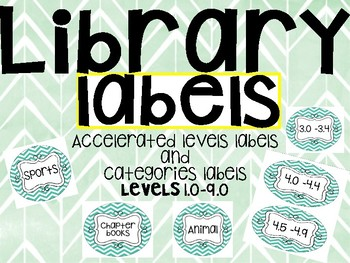 Categories and AR Library Labels