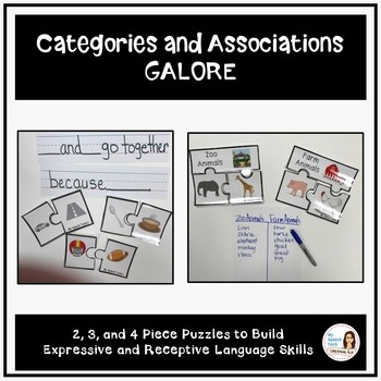 Categories and Associations Galore Speech and Language Bundle