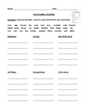Categories and Connections Worksheet or Homework with Answer Key