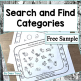 Categories for Speech Therapy FREE SAMPLE Search and Find