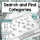 Categories for Speech Therapy Search and Find Basic and Subcategories