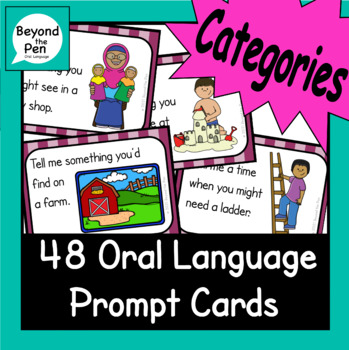 Categories for vocabulary building EAL literacy oral language skills