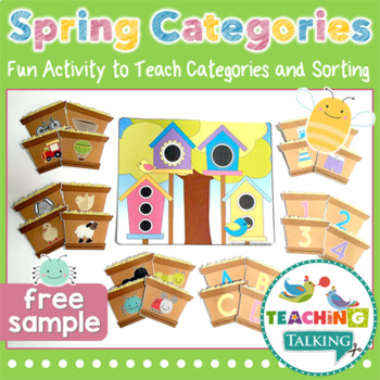 Categories in Springtime - Printable Activity (Freebie)