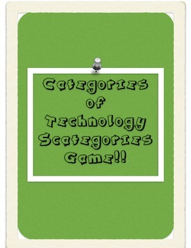 Categories of Technology Scategories