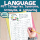 Categories, synonyms, antonyms, and comparison NO Prep language
