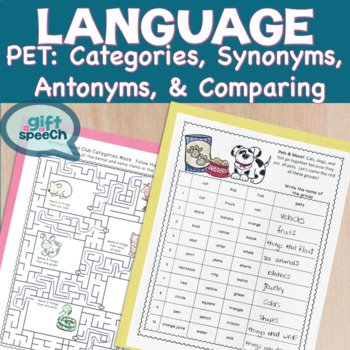 Categories, synonyms, antonyms, & comparison NO Prep