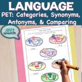 Categories, synonyms, antonyms, & comparison NO Prep Pet Shop Language