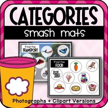 Categories with Play Dough Smash Mats