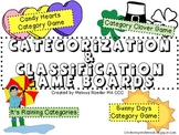 Categorization & Classification Gameboards