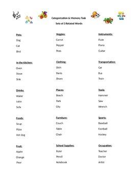 Categorization & Memory