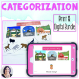 Categorization Print and Digital Bundle for Speech Therapy