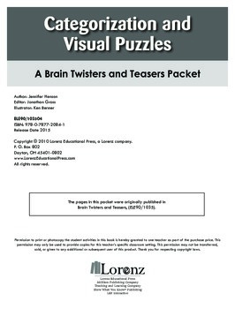 Categorization and Visual Puzzles