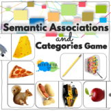 Categories Game Activity for Speech Therapy Word Retrieval Vocabulary