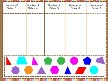 Categorize 3, 4, 5, 6, 7 sided shapes. MIMIO 3rd-5th gr STAAR pract  Common Core