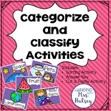 Categorize & Classify Activities