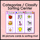 Categorize / Classify Center Activity