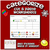 Categorize & Classify Worksheets - Including cut and paste