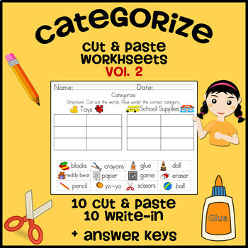 Cut and Categorize #3 | Worksheets, Fish and Bird