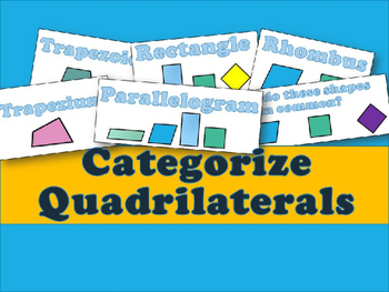 Categorize Quadrilaterals PowerPoint